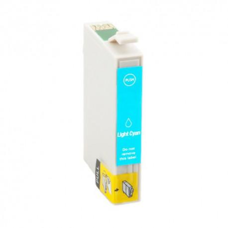 Cartridge Epson T0485 světle modrá (light cyan) - komp. inkoustová náplň - Epson Stylus Photo R200, R300, RX500,RX300,RX600,R330