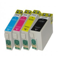 Sada 4ks Epson T2715 27XL (T2711,T2712,T2713,T2714) - komp. inkoustové náplně (cartridge) - Epson Workforce Pro WF-3620,WF-7110
