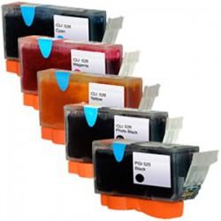 Sada Canon PGI-525 / CLI-526 (PGI525, CLI526) PIXMA - kompatibilní inkoustové náplně (cartridge) - MG-5250, MG-8150, MG-5150