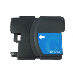 Cartridge Brother LC-1100C / LC-980C modrá (cyan) - DCP-145,DCP-165,MFC-250, MFC-490,MFC-670 - kompatibilní inkoustová náplň