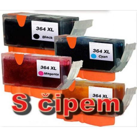 Sada 4ks HP 364XL (364 XL)  s čipem HP Photosmart C5380, B109, Deskjet D5460 - kompatibilní inkoustové náplně (cartridge) - HP