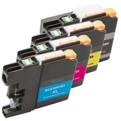 Sada 4ks Brother LC-125XL / LC-127XL / LC-125 / LC-127 - DCP-J4110,MFC-J4410,MFC-J4510-kompatibilní inkoustové náplně(cartridge)