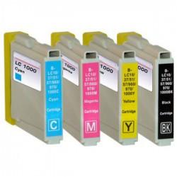 Sada 4ks Brother LC-1000 / LC-970 XL - DCP-130, DCP-135, DCP-770, MFC-235, MFC-360 - kompatibilní inkoustové náplně (cartridge)