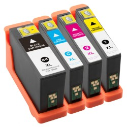 Sada 4ks Dell V525W V725W - 592-11812, R4YG3, PT22F, 55K2V, J56GB, 37VJ4, 592-11810 kompatibilní inkoustové náplně (cartridge)