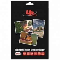 """UPrint Glossy photopaper, foto papír, lesklý, bílý, 10x15cm, 4x6"""", 180 g/m2, 20 ks, inkoustový"""