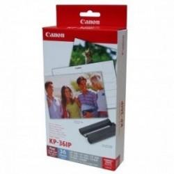 """Canon Papír pro termosublimační tiskárny CP-220, 330, papír, bílý, 4x6"""", 36 ks, KP36IP, termosublimační,+ inkoustová kazeta"""