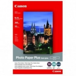 """Canon Photo Paper Plus Semi-Glossy, foto papír, pololesklý, saténový, bílý, 10x15cm, 4x6"""", 270 g/m2, 50 ks, SG-201S, ink…"""