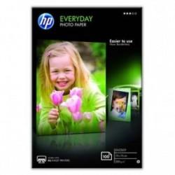 "HP Everyday Photo Paper, Glossy, foto papír, lesklý, bílý, 10x15cm, 4x6"", 200 g/m2, 100 ks, CR757A, inkoustový"