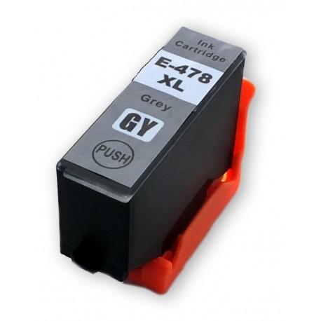 Cartridge Epson 478XL (C13T04F64010) šedá (grey) kompatibilní inkoustová náplň pro Epson Expression Photo HD XP-15000