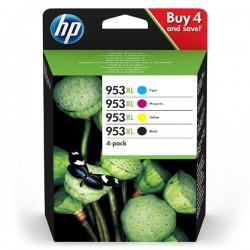 Sada HP 953XL (3HZ52AE) originální ,CMYK, 1600CMY-2000Kstr., HP Officejet Pro 7740, 8210, 8710, 8720