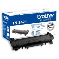 Toner Brother TN2421 (TN-2421) originální, 3000str., DCP-L2512D, DCP-L2532DW, HL-L2312D, HL-L2352DW, MFC-L2712DN