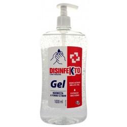 Disinfekto Gel Mani 1000ml s pumpou - Desinfekční bezoplachový gel na bázi alkoholu na ruce proti bakteriím - MADEL