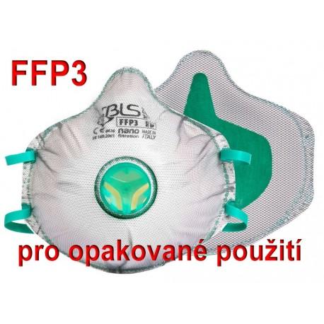 Respirátor BLS Zer0 31 FFP3 R D - pro opakované použití