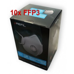 10x Respirátor Refil 751 FFP3 NR D s výdechovým ventilem  - proti prachům, bakteriím, virům, aerosolům