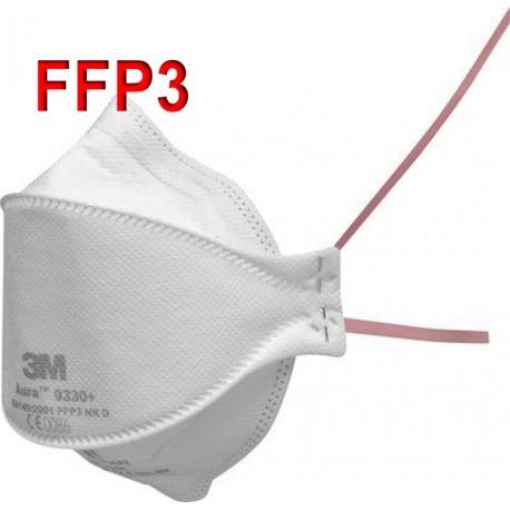 Respirátor 3M Aura 9330+ FFP3 NR D - proti prachům, bakteriím a virům (COVID-19, koronavirus, coronavirus, SARS-CoV-2, chřipka)