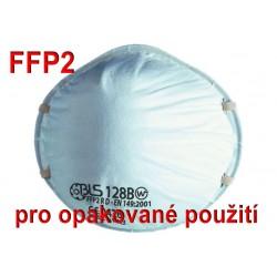 Respirátor BLS 128BW FFP2 R D pro opakované použití - proti prachům, aerosolům, COVID-19, koronavirus, coronavirus