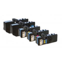 5x Toner Kyocera Mita TK-5220, TK-5220K, TK-5220C, TK-5220M, TK-5220Y  - C/M/Y/K kompatibilní - Ecosys P5021, M5521