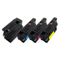 4x Toner Dell C1660 / C1660W - C/M/Y/K vysokokapacitní kompatibilní 4G9HP, V53F6, DWGCP, V3W4C, 7C6F7