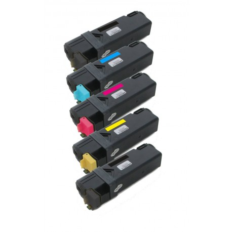 5x Toner Dell 2150 / 2150CN / 2150CDN / 2155 / 2155CN - C/M/Y/2xK vysokokapacitní kompatibilní MY5TJ, NPDXG, 8WNV5, 769TJ
