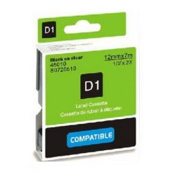 Štítky Dymo D1 45013, S0720530, páska černá na bílé, 12mm x 7m pro Dymo LabelManager, LabelPoint- kompatibilní
