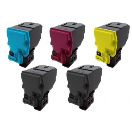 Sada 5x Toner Konica Minolta Magicolor TNP-18,  A0X5150, A0X5250, A0X5350, A0X5450 - C/M/Y/2xK kompatibilní -  4750 / 4750DN