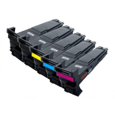 Sada 5x toner Konica Minolta Magicolor A0DK152, A0DK252, A0DK352, A0DK452, A0DKJ51 - C/M/Y/2xK kompatibilní - 4650, 4690, 4695