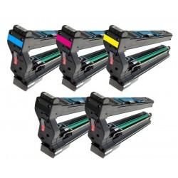 Sada 5x Toner Konica Minolta Magicolor 1710582001, 1710582002, 1710582003, 1710582004 - C/M/Y/2xK kompatibilní -  5430 / 5430DL