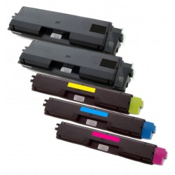5x Toner Kyocera Mita TK-590 (Tk-590BK, TK-590C, TK-590M, TK-590Y)  - C/M/Y/2xK kompatibilní - FS-C2026 MFP, FS-C2126, FS-C5250