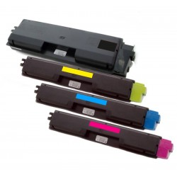 4x Toner Kyocera Mita TK-590 (Tk-590BK, TK-590C, TK-590M, TK-590Y)  - C/M/Y/K kompatibilní - FS-C2026 MFP, FS-C2126, FS-C5250