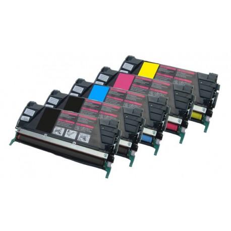 Sada 5x toner Lexmark C734A2KG, C734A2MG, C734A2CG, C734A2YG - C/M/Y/2xK kompatibilní -  C734, C736, X734, X736