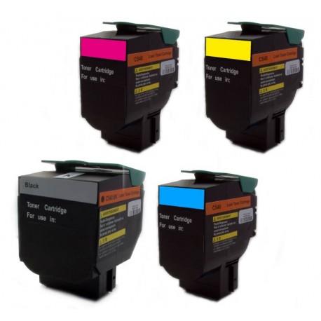 Sada 4x toner Lexmark C540H2KG, C540H2CG, C540H2YG, C540H2MG - C/M/Y/K kompatibilní -  C540, C544, X544