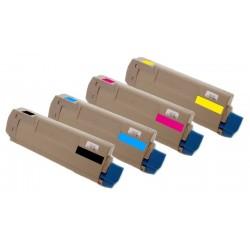 4x Toner Oki 43324408, 43381907, 43381906, 43381905  - C/M/Y/K kompatibilní - Oki C5600, C5600N, C5700, C5700N, C5600DN, C5700DN