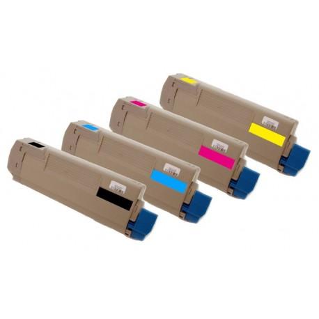 4x Toner Oki 43324424, 43324423, 43324422, 43324421  - C/M/Y/K kompatibilní - Oki C5500, C5500N, C5800, C5900, C5800N, C5900N
