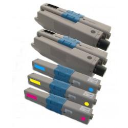 5x Toner Oki 44973536, 44973535, 44973534, 44973533  - C/M/Y/2xK kompatibilní - Oki C301, C301DN, C321, C321DN