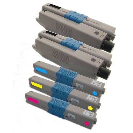 5x Toner Oki 44469803, 44469704, 44469705, 44469706  - C/M/Y/2xK kompatibilní - Oki C310, C310DN, C330 DN, C510, C510DN, MC351