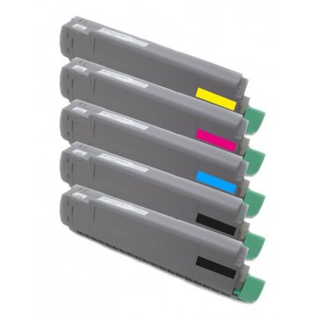 5x Toner Oki 43487712, 43487711, 43487710, 43487709  - C/M/Y/2xK kompatibilní - Oki C8600, C8600N, C8800, C8800N, C8800DN