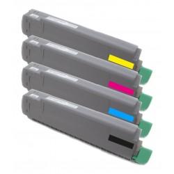 4x Toner Oki C8600 43487712, 43487711, 43487710, 43487709  - C/M/Y/K kompatibilní - Oki C8600N, C8800, C8800N, C8800DN