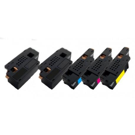 5x Toner Xerox 106R01630, 106R01627, 106R01628, 106R01629  - C/M/Y/2xK kompatibilní - Xerox Phaser 6000, 6010, 6100, 6015,CP205