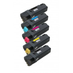 5x Toner Xerox 106R01334, 106R01331, 106R01332, 106R01333  - C/M/Y/2xK kompatibilní - Xerox Phaser 6125, 6125N, 6125V