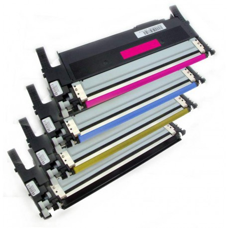 4x Toner Samsung CLT-406S (CLT-P406S, K406S, Y406S, M406S, C406M) (C/M/Y/K) kompatibilní - CLP-360 / CLP-365 / CLX-3300