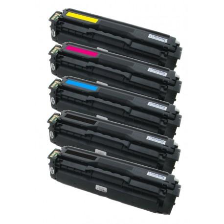 5x Toner Samsung CLT-504S (K504s, Y504S, M504S, C504S) C/M/Y/2x K kompatibilní - CLP-415 / CLP-415N / CLX-4195N