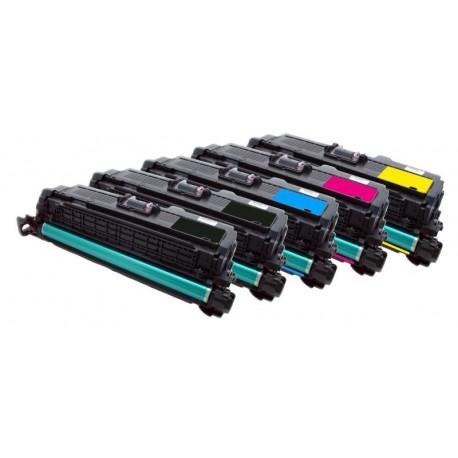5x Toner HP CE250X, CE251A, CE252A, CE253A LaserJet CP3520 / CP 3525 / CP3530 - C/M/Y/2x K kompatibilní