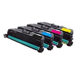 4x Toner HP CE250X, CE251A, CE252A, CE253A LaserJet CP3520 / CP 3525 / CP3530 - C/M/Y/K kompatibilní
