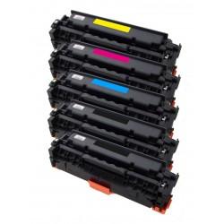 5x Toner HP CE410X, CE411A, CE412A, CE413A (CE410, 305X, 305A) LaserJet 300 Color M351A, 400 Color M475DW - C/M/Y/2x K komp.