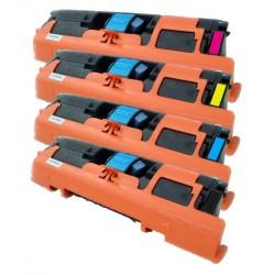 4x Toner HP Q3960A, Q3961A, Q3962A, Q3963A (Q3960, Q3961, 122A) LaserJet 2550 / 2820 / 2840 - C/M/Y/K kompatibilní