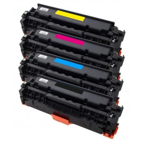 4x Toner HP CC530A, CC531A, CC532A, CC533A LaserJet CP2025 / CM2320 / CM 2720 - C/M/Y/K kompatibilní