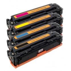 4x Toner HP CB540A, CB541A, CB542A, CB543A (CB540, CB541, 125A) LaserJet CP-1210, CM-1312, CP-1214, CP-1515 - C/M/Y/K komp.