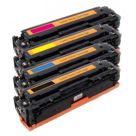 4x Toner HP CB540A, CB541A, CB542A, CB543A LaserJet CP-1210 / CM-1312 MFP / CP-1214 / CP-1515 - C/M/Y/K kompatibilní