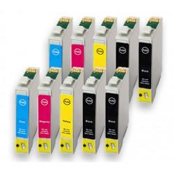 Sada 10ks Epson T1285 (4x T1281, 2x T1282, 2x T1283, 2x T1284) Epson Stylus - kompatibilní inkoustové náplně (cartridge)- Epson