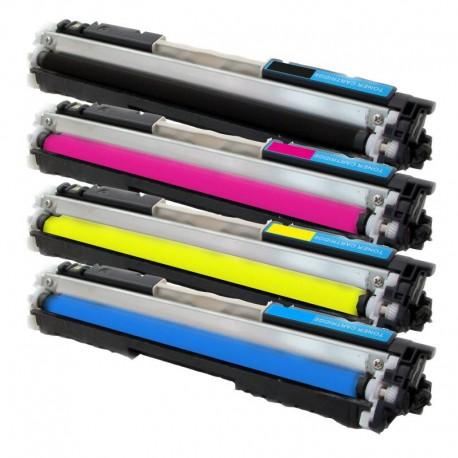 Sada 4x Toner HP CF350A, CF351A, CF352A, CF353A (CF350, CF353, 130A) Color LaseJet Pro MFP M176n, M177fw - C/M/Y/K kompatibilní